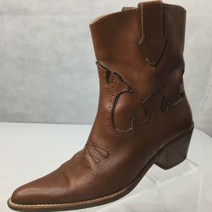 Vero Cudio Cowboy Boots Sz 7 Pointy Toe Ankle